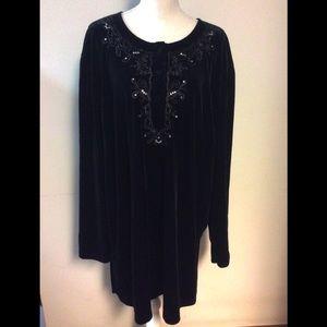 Festive Black Velvet Maggie Barns 3X Dress Tunic